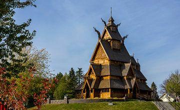 Staafkerk in Minot, North Dakota, USA van Adelheid Smitt