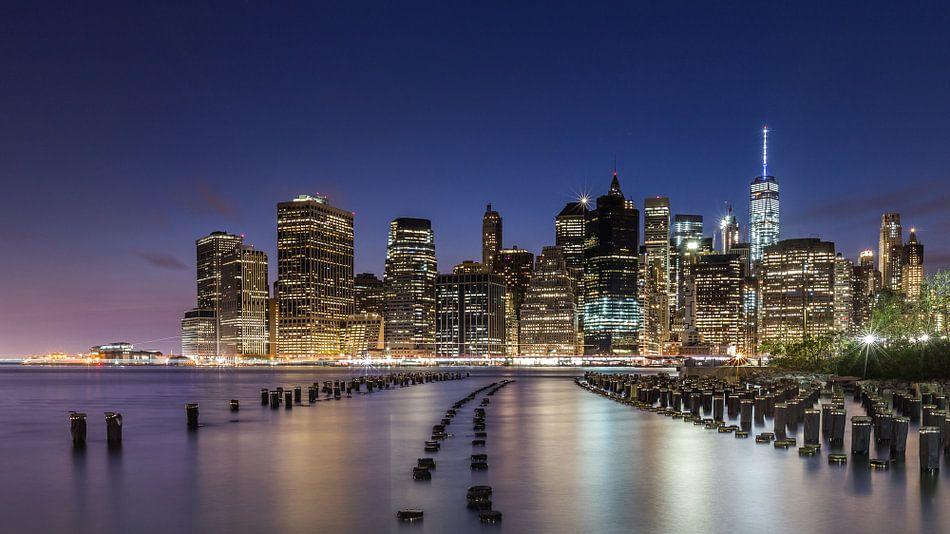 Skyline New York 3 van Bert Nijholt