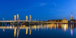 Twilight in Kampen, Netherlands