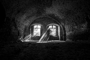 Sonnenstrahlen in verlassenen Gebäude