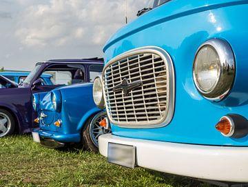 Oldtimers Barkas en Trabant uit de DDR van Animaflora PicsStock