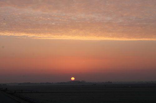 Zonsopgang winterochtend