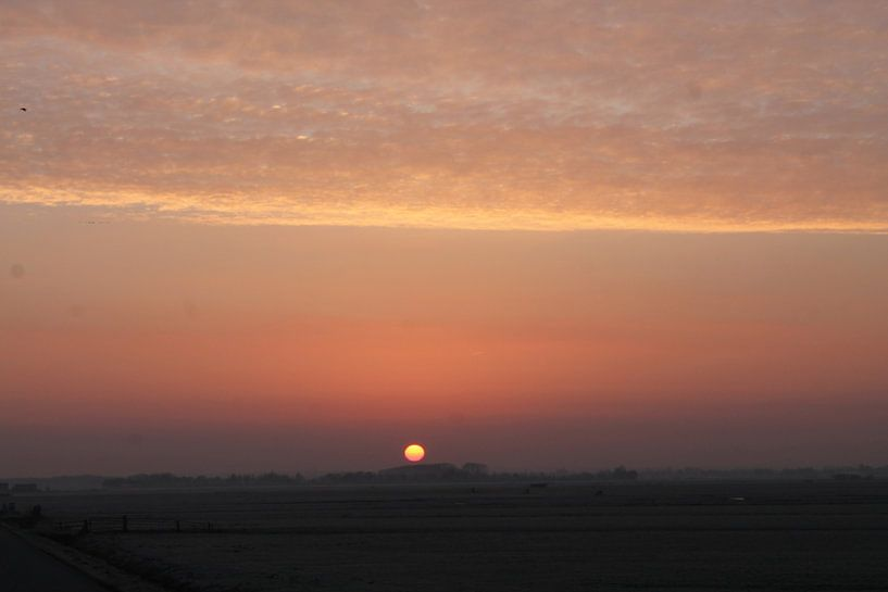 Zonsopgang winterochtend van Mark Nieuwkoop