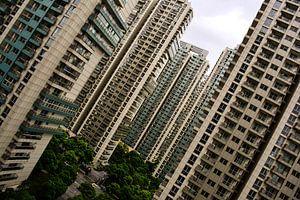 Flatgebouwen Schuin Perspectief