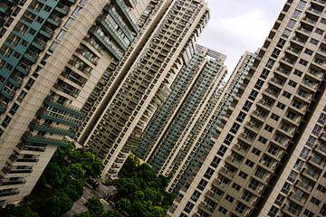 Flatgebouwen Schuin Perspectief van