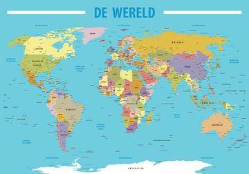 Weltkarte Niederländisch sprechend von Jan Willem van Doesburg