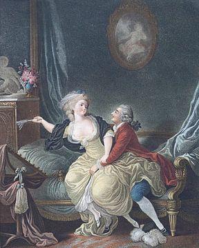 Louis-Marin Bonnet, De gebroken waaier,1769 - 1793 2 van Atelier Liesjes