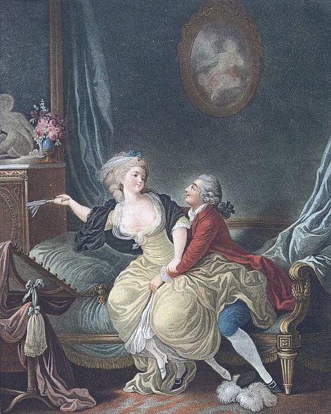 Louis-Marin Bonnet, Der zerbrochene Fächer,1769 - 1793 2 von Atelier Liesjes