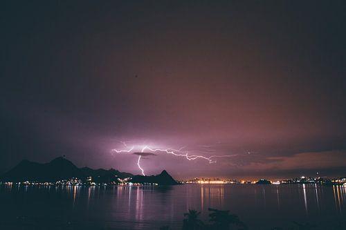 Bliksem in Rio de Janeiro van