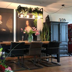 Klantfoto: Portret van Johan de Witt, Jan de Baen, op canvas