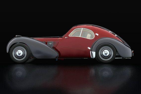 Bugatti 57-SC Atlantic 1938 Zijaanzicht