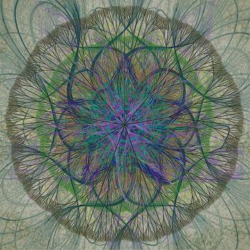 Mandala, grijs groen van Rietje Bulthuis