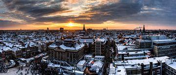 Panorama Winters Groningen von