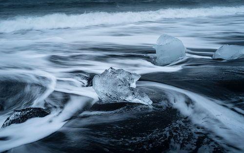 Diamond beach in IJsland.