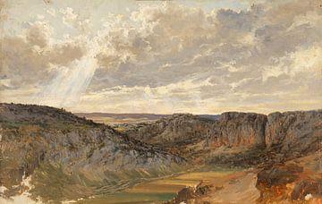 Carlos de Haes-Aragonese berglandschap, Antiek landschap