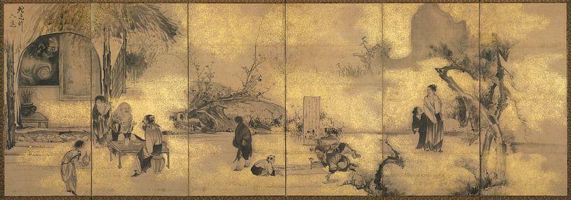 Soga Shohaku - Die acht Unsterblichen des Weinbechers von 1000 Schilderijen