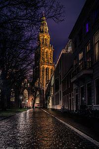 Martinitoren bij nacht van Sjoukelien van der Kooi