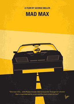 No051 My Mad Max 1 minimal movie poster van Chungkong Art