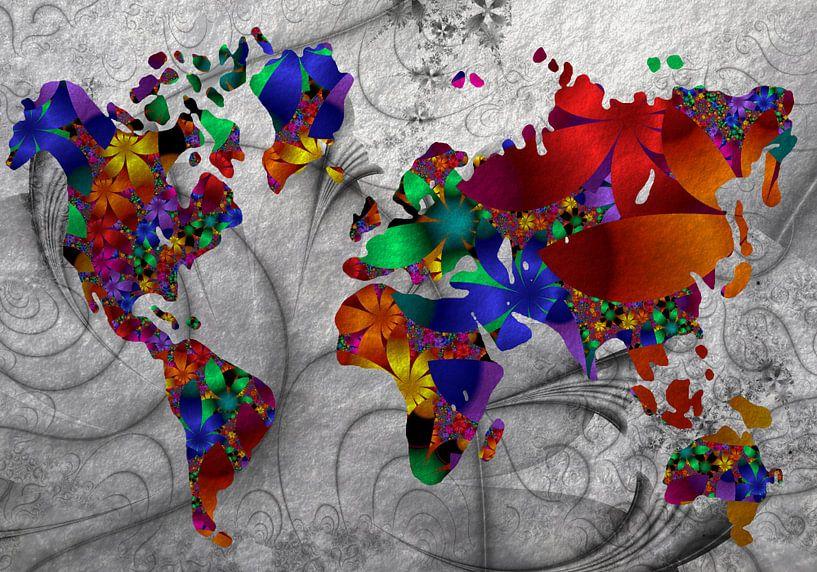 fraktale Weltkarte von Isa Bild
