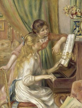 Meisjes bij de piano, Auguste Renoir - 1892