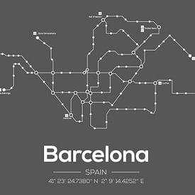 Barcelona Metro Donkergrijs van MDRN HOME
