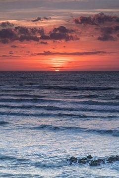 Sonnenuntergang im Meer von Sasja van der Grinten