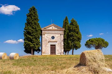 Cappella della Madonna di Vitaleta in Toscane van Jenco van Zalk