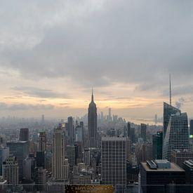 De skyline van New York van de bovenkant van het de observatiedek van de rots in Rockefeller centrum van Mohamed Abdelrazek
