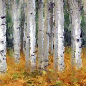 Birken-abstrakt von Marion Tenbergen