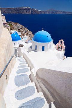 Gezicht op de Caldera, Oia, Santorini, Griekenland van Markus Lange