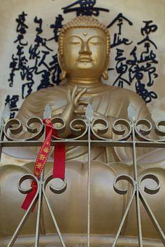 Statue de Bouddha au Népal sur Mariska Vermeulen