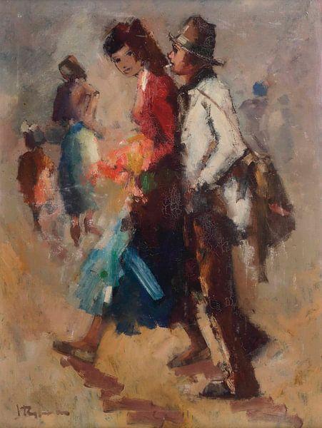 Ein Ehepaar auf einem Spaziergang von Antonije Lazovic