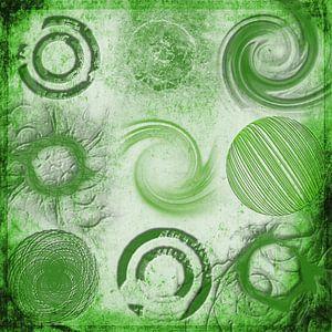 Variaties op een cirkel, groen