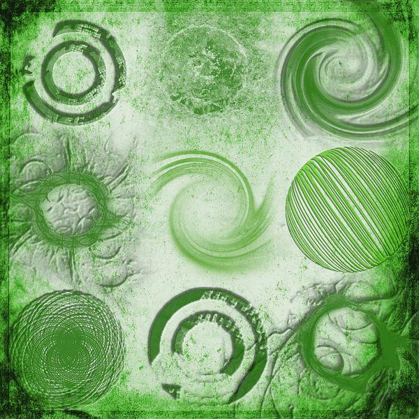 Variaties op een cirkel, groen van Rietje Bulthuis