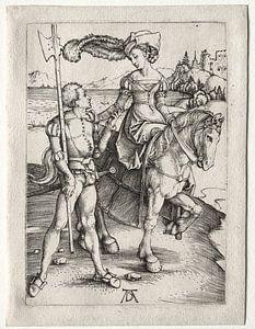 Fahrende Frau mit Landsknecht, Albrecht Dürer
