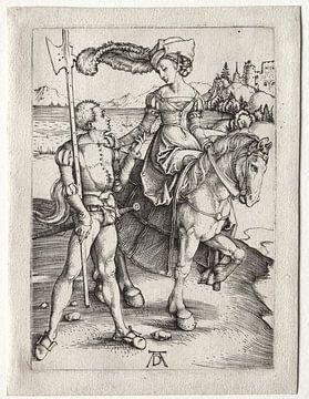Rijdende vrouw met landsknecht, Albrecht Dürer van De Canon