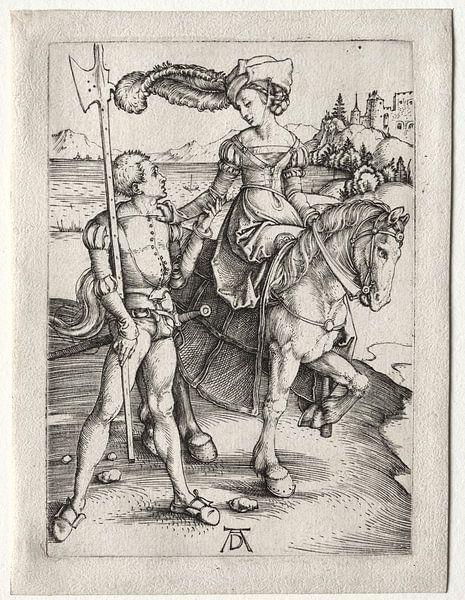 Fahrende Frau mit Landsknecht, Albrecht Dürer von De Canon