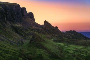 Isle of Skye The Quiraing zum Sonnenaufgang von Jean Claude Castor