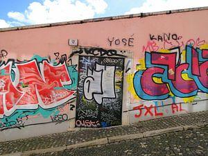 Lissabon, Portugal graffiti muur