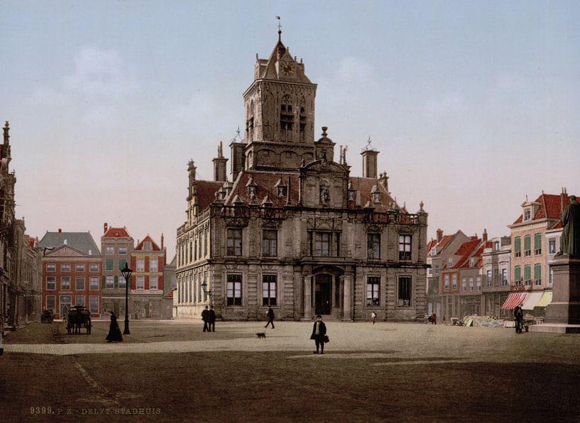 Stadhuis, Delft von Vintage Afbeeldingen
