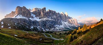 Bergpanorama in den Dolomiten von Michael Blankennagel