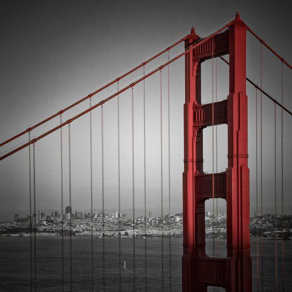Golden Gate Bridge Downtown View van Melanie Viola