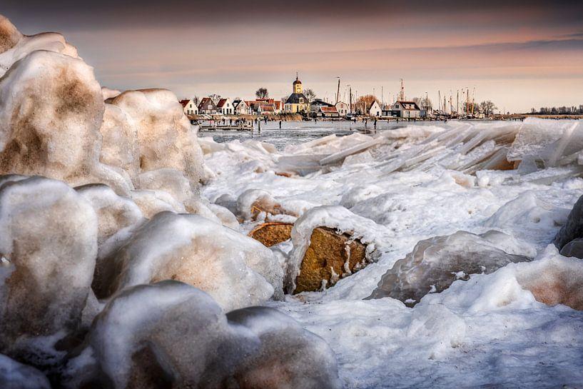 Winter in Durgerdam van Ruud Peters