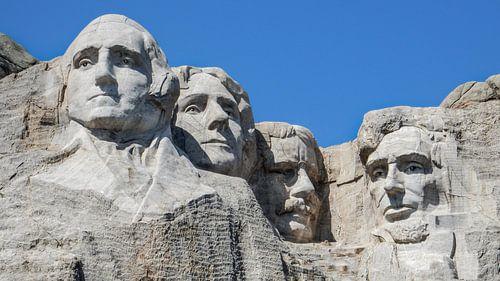 Close up Mount Rushmore South Dakota van