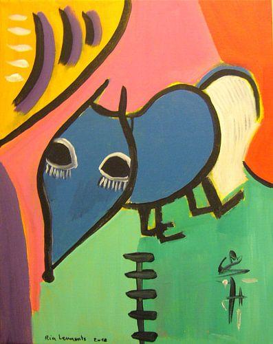 Blue Dog van Ria Lenaerts