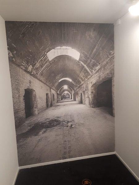 Photo de nos clients: Verlaten plekken: Sphinx fabriek Maastricht gewelfde gang. sur Olaf Kramer