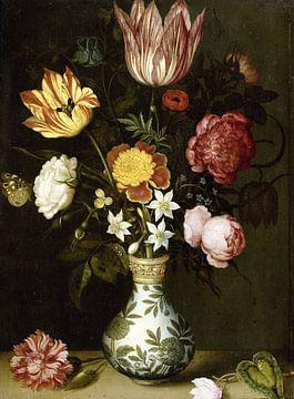 Stillleben mit Blumen in einer Wan-li-Vase, Ambrosius Bosschaert