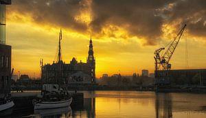 Skyline Antwerpen van Evy De Wit