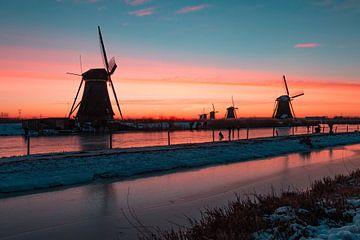 Kinderdijk winter 5 van Nuance Beeld