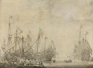 Schepen na de slag, Willem van de Velde van Diverse Meesters